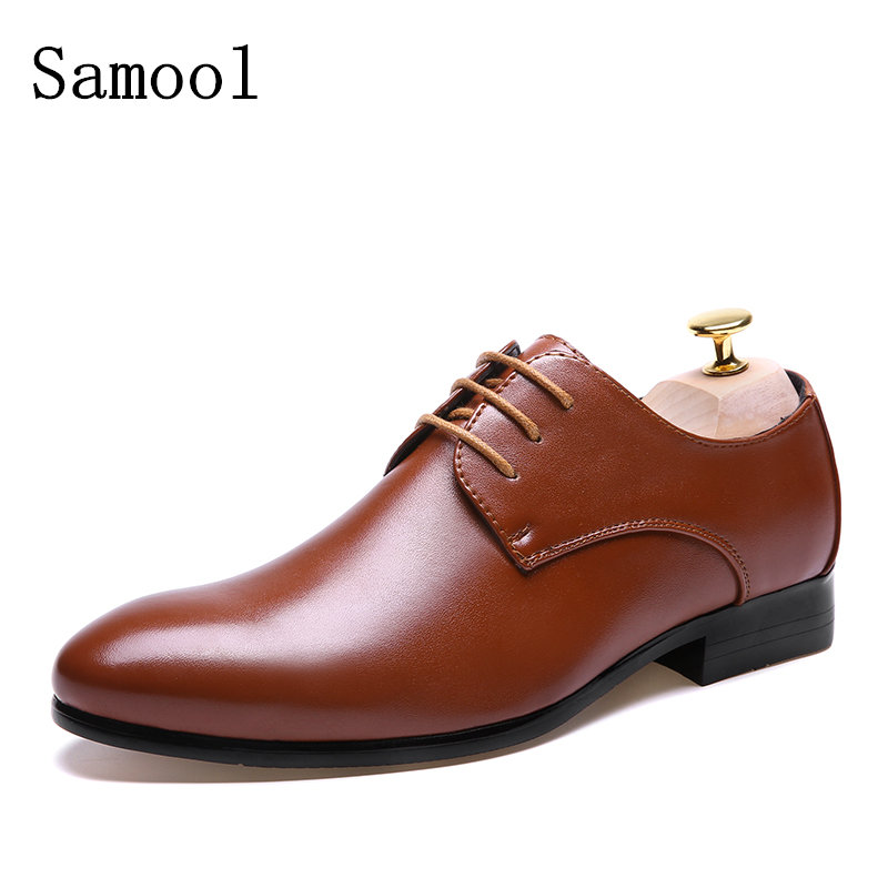 2017 Spring Autumn Fashion Men Classic Leather Wedding Dress Shoes Breathable Business Lace-up Flats Shoes Mens Oxfords Shoes genuine leather mens oxford shoes breathable men flats casual martin boots shoes 2017 spring autumn summer lace up unisex shoe