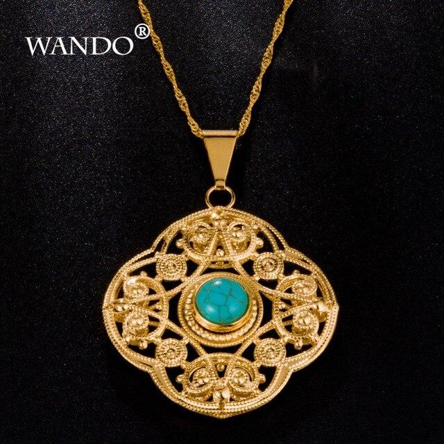 Wando newest turkey blue stone pendants gold color pendant wando newest turkey blue stone pendants gold color pendant necklace fashion jewelry slide pendants arabic aloadofball Choice Image