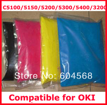 High quality color toner powder compatible for OKI C5100/5150/5200/5300/5400/3200 Free shipping