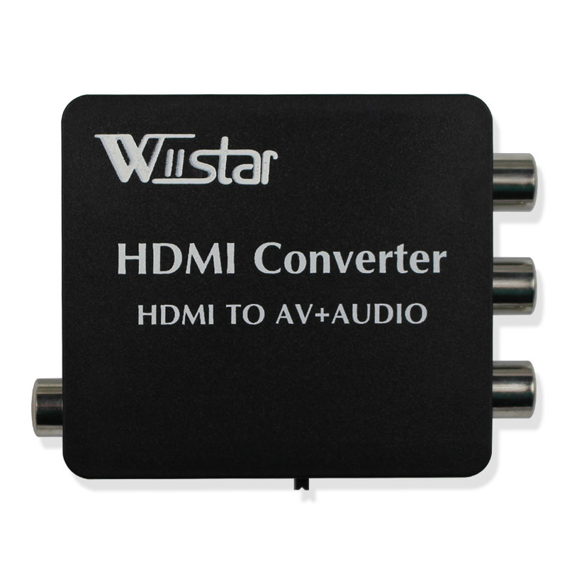 Wiistar HDMI to AV + Audio Converter Support SPDIF and Coaxial audio outputs NTSC PAL free shipping BEST SOLUTION VX8812