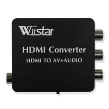 Wiistar HDMI to AV + Audio Converter Support SPDIF and Coaxial audio outputs NTSC PAL free shipping