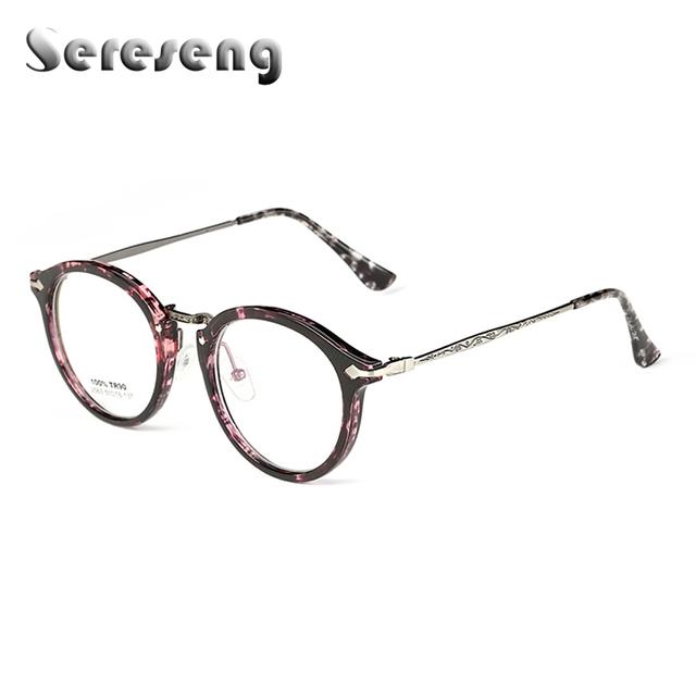 2017 Mulheres Da Moda Óculos de Lente Clara Óculos de Armação Óptica Homens TR90 Quadro Oval Opticos Unisex Eyewear 2563