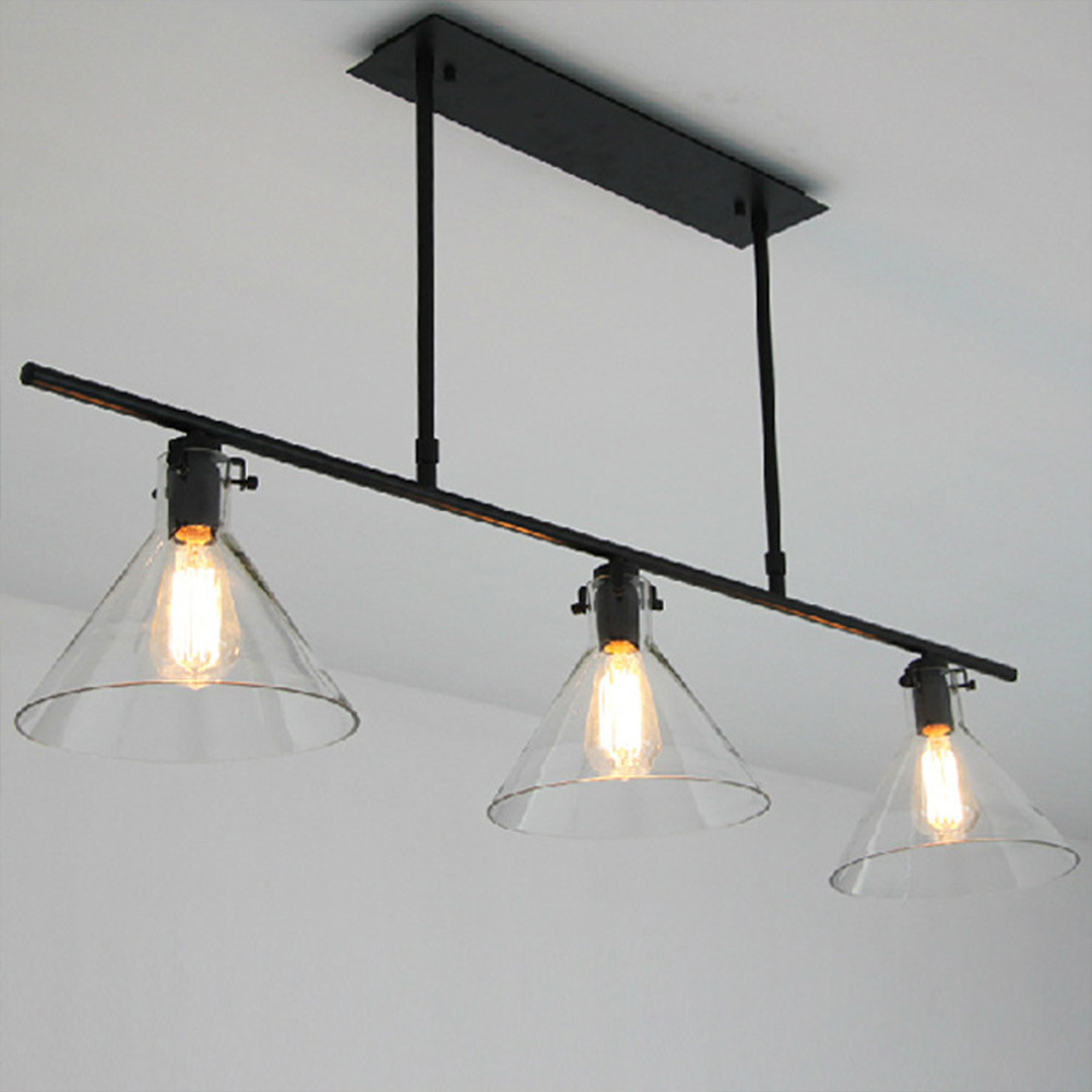 Black Iron Hand Painted Personalized Nordic Pendant Lights 3 Heads Decorative Drop For Bar Cafe S Dining R In From
