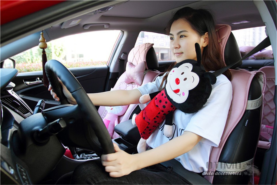 2015 New Child the Bees Seat Pets Car Seat Belt Pillow Cover Children Cat Monkey Bear Dog Pet Seat Belts Set for Birthday Gift 3