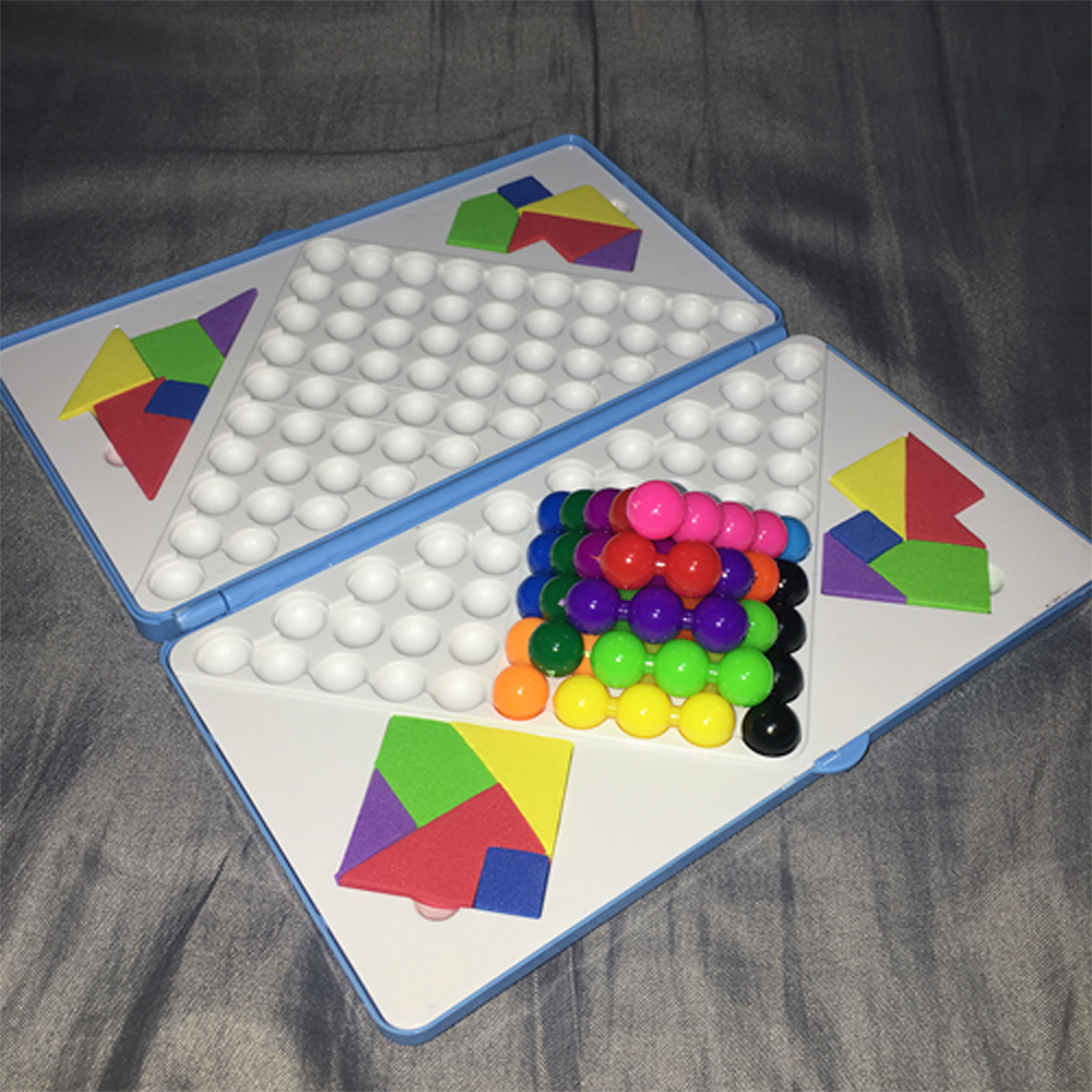 3D Creative Puzzle Toy Colorful Jigsaw Box Children Early Education Develop Magical Pyramid Intelligence Brain Teaser Logic Game