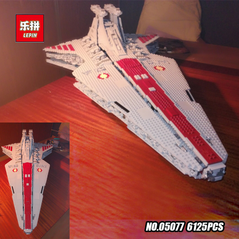N STOCK Lepin 05077 6125Pcs Gift The UCS Rupblic Star Destroyer Cruiser ST04 Set Building Blocks Bricks Toys lepin 6125 stucke star classic modell wars die ucs st04 republic cruiser educational building blocks bricks spielzeug mode