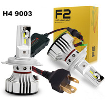 FSYLX New F2 H4 H13 Car LED Headlight Kit 72W 12000LM white 9004 9007 hb5 HB1 h4 Headlights headlamp Fog Light Bulb for bmw