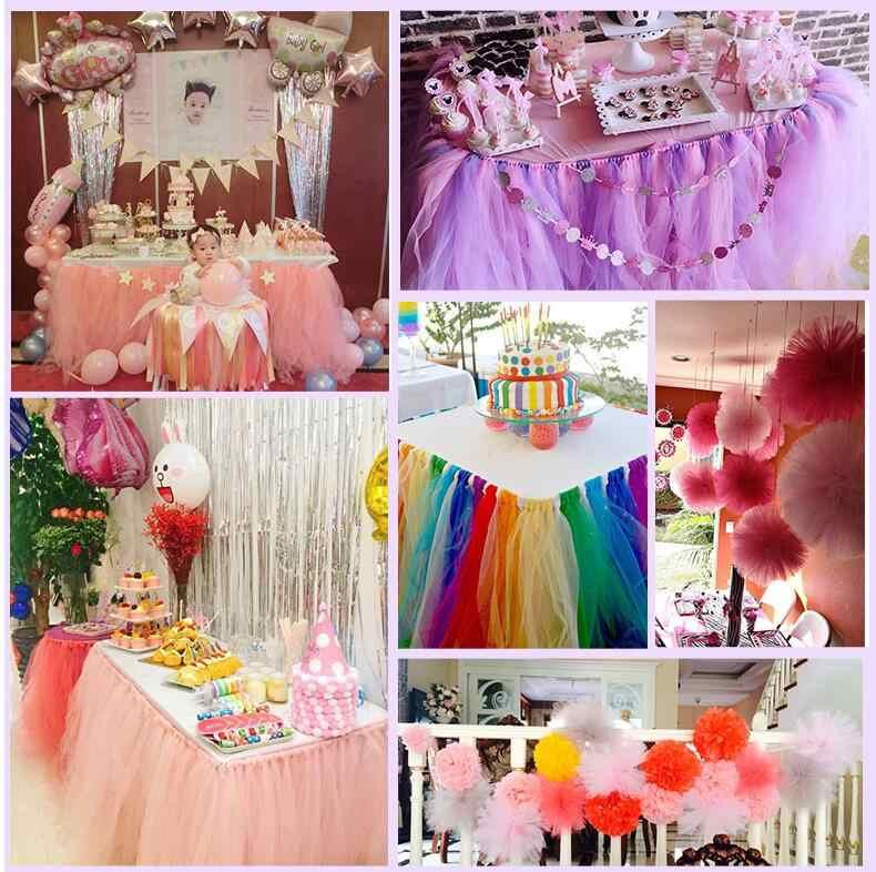 Baby Show tul rollo 5cm 15cm 25 rollo de yardas carrete para tela tutú fiesta cumpleaños regalo DIY envoltura boda decoración fiesta suministros