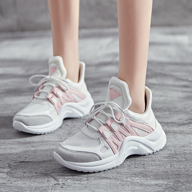 Women Sneakers Spring Autumn Mesh Women Casual Shoes Fashion Breathable Casual Flats Platform Women Shoes Big Size 35-43 spring autumn fashion platform shoes casual sweet sneakers shallow women shoes size 34 43