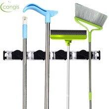 Congis 1PC Aluminum Alloy Mop Rack Powerful Holding Hook Household Clean Cloth Umbrella Kitchen Organization Storage Tool