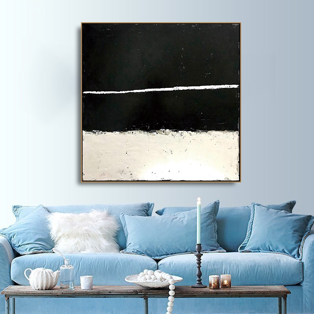 Black and white Art Canvas Painting Calligraphy Poster and Prints Living Room House Wall Decor Art Home Decoration Picture in Painting Calligraphy from Home Garden