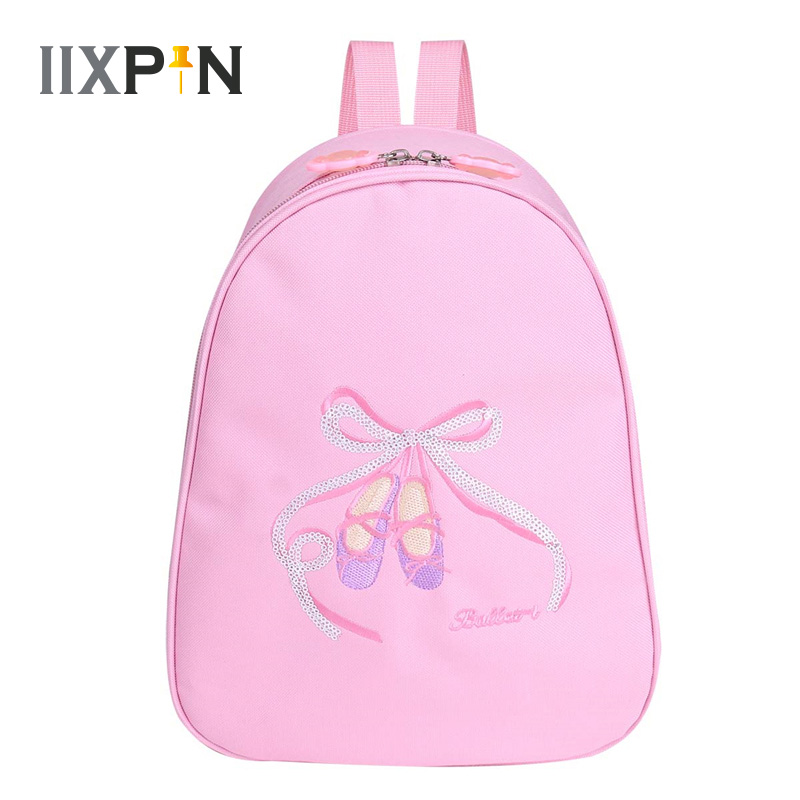 IIXPIN Kids Girls Ballet Dance Bags Backpack Toe Shoes Embroidered Shoulder Bag Ballerina Gymnastics Bags For Girls Ballet Class
