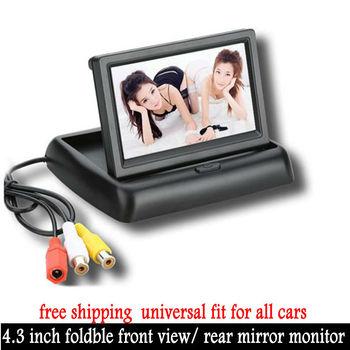 Foldaway 4,3-дюймовый TFT ЖК-дисплей, автомобильный DVD-плеер, цветной автомобильный монитор заднего вида для всех автомобилей