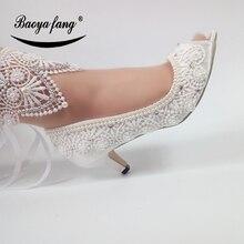 Scarpe Da Sposa bianco Sposa di modo Open toe cinturino alla caviglia scarpe da donna di partito abito scarpe Peep Toe