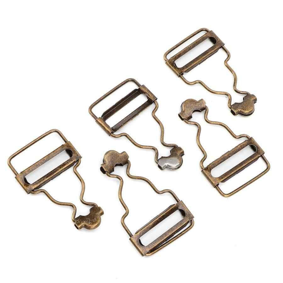 Alat Jahit 10 Pcs/set Logam Dapat Disesuaikan Tali Gesper Tombol untuk Bib Celana Jeans Anak Pakaian 2.7 CM