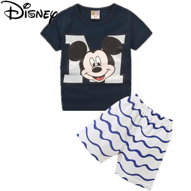 5c88d1bba6dcd Disney vêtements garçons 2017 d été marque casual garçons vêtements définit  Rayures manches courtes Impression