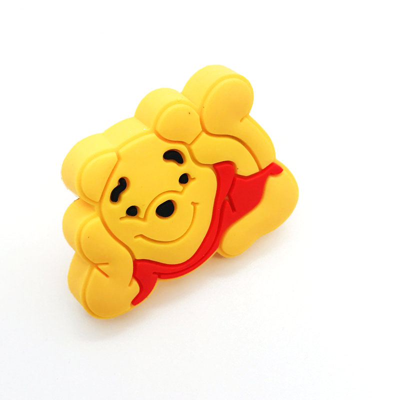 Hardware Home Improvement Open-Minded 1pcs Lovely Bear Cupboard Pulls Drawer Knobs Kitchen Cabinet Handles For Kids Room Furniture Handle Hardware Safety Rubber Made Pretty And Colorful