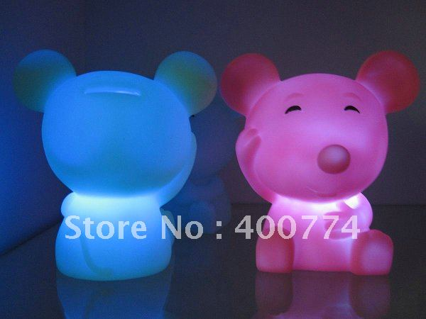 Led Flashing Mouse Toy Gift Money Box Piggy Bank Doll