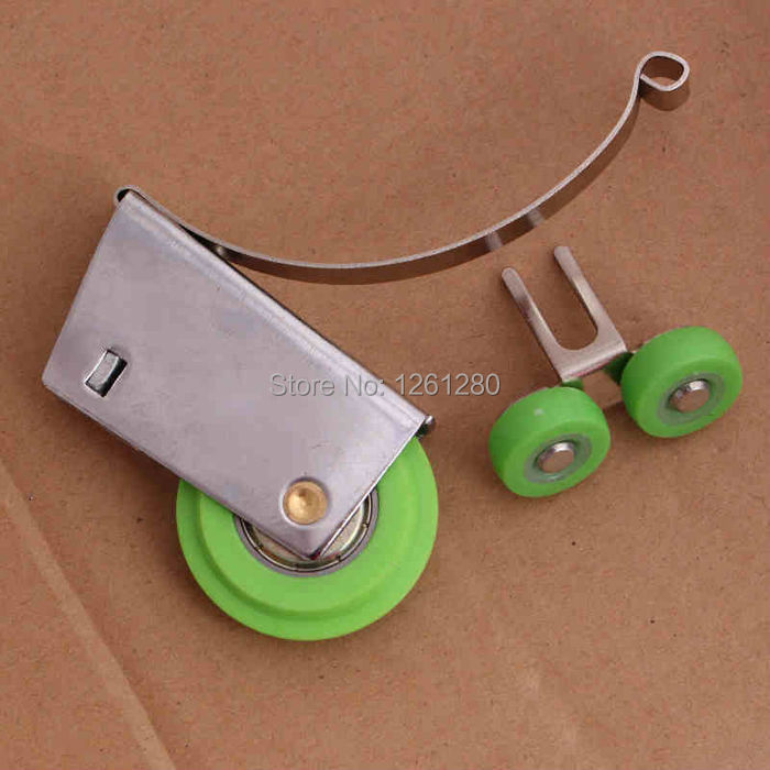 free shipping furniture caster Stainless steel sliding door wardrobe pulley bathroom hanging wheel partition roller caster m75 750kgs pulley 304 stainless steel roller crown block lifting pulley factory direct sales all kinds of driving pulley