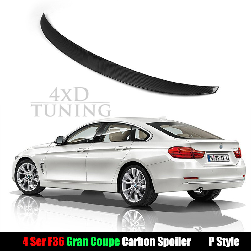 For BMW 4 Series F36 Performance Style Carbon Fiber Rear Spoiler 4-door Gran Coupe 2014 2015 2016 2017 3 series e92 carbon fiber performance p style spoiler fits for bmw 3 series e92 2007 in 2 door coupes