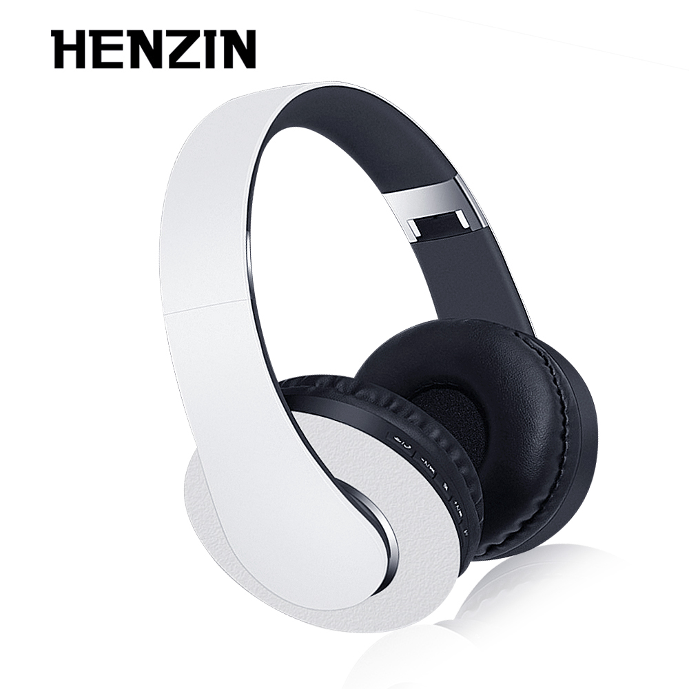 HENZIN Foldable Wireless Stereo Headphone Bluetooth Music Headset TF Card FM Radio MP3 Player HD Microphone Hands-free Calling sports wireless bluetooth stereo headset with fm tf card mp3 music player headphone