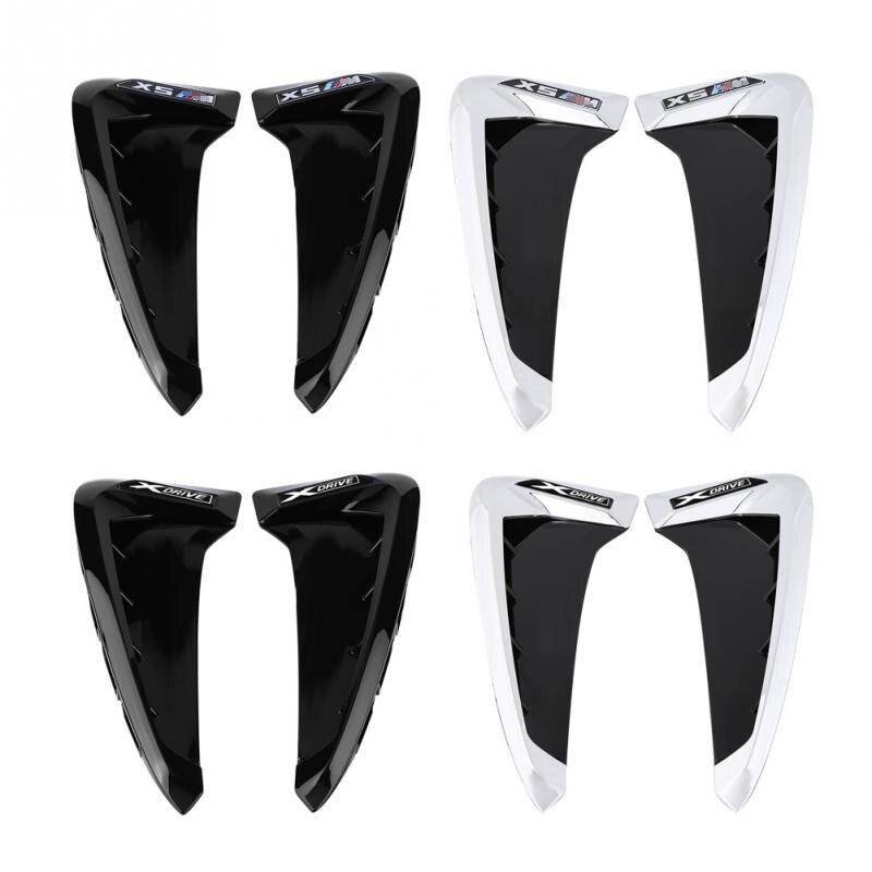 2 pçs/set ABS Frente Fender Lado Do Carro Air Vent Capa Guarnição para BMW X5 F15 2014-2017 Guelras de Tubarão lateral de Ventilação Etiqueta