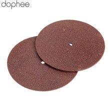 Dophee 10 10pcs ドレメルアクセサリー 38 ミリメートル樹脂砥石ミニ丸鋸ディスク研磨サンディングディスクドリルツール