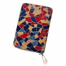 Noisydesigns Unisex 3D identiteitskaarthouder Topkwaliteit PU lederen portemonnees Patchwork kleur Persoonlijkheid Afdrukken voor op reis