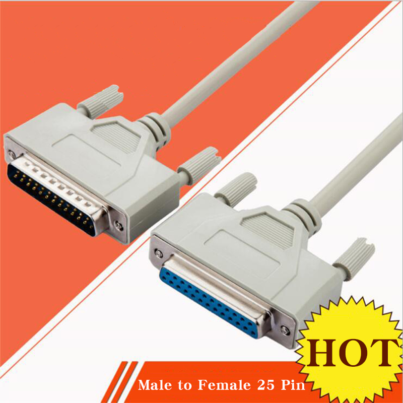 DB25 Male To Female 25 Pin Parallel Port Extension Line LPT Printer Computer Cable Printing Extension Line For Hole 1.5m 3m 5m
