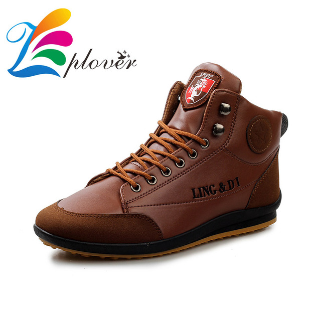 94131471bdf04 Zplover hombres botas 2016 nuevos zapatos de cuero de moda para hombres  zapatos casual primavera otoño