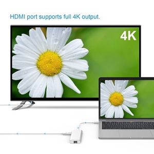 Image 5 - Amkle hdmi 어댑터 rj45 기가비트 이더넷 usb c 허브 hdmi 유형 c 어댑터 (카드 포함) macbook tablet 용 usb3.0 pd 충전 읽기