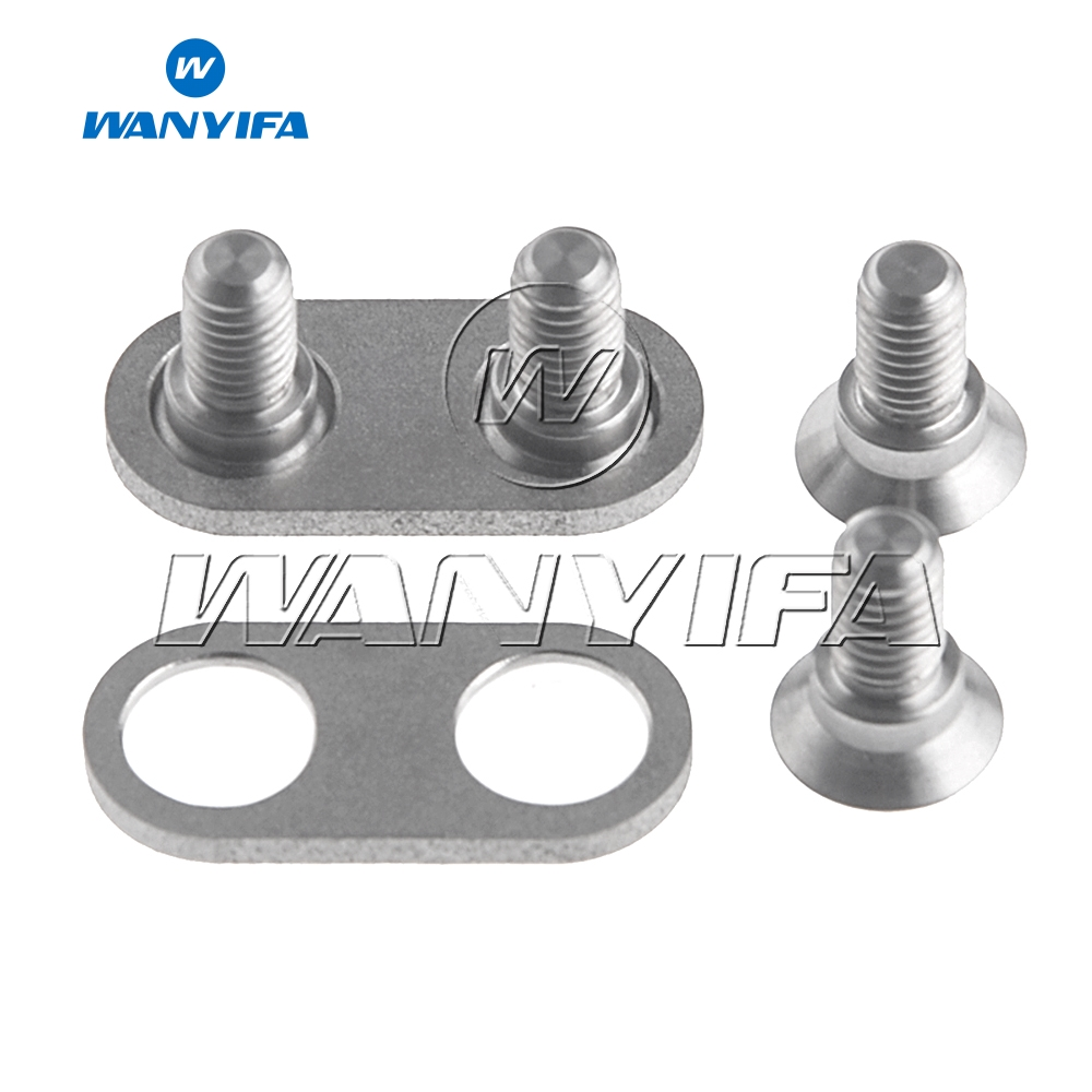 Wanyifa 4 Bolts 2 Spacer Adapters for Pair of Shimano SPD Bicycle Pedal Cleats Use in Bicycle Pedal from Sports Entertainment
