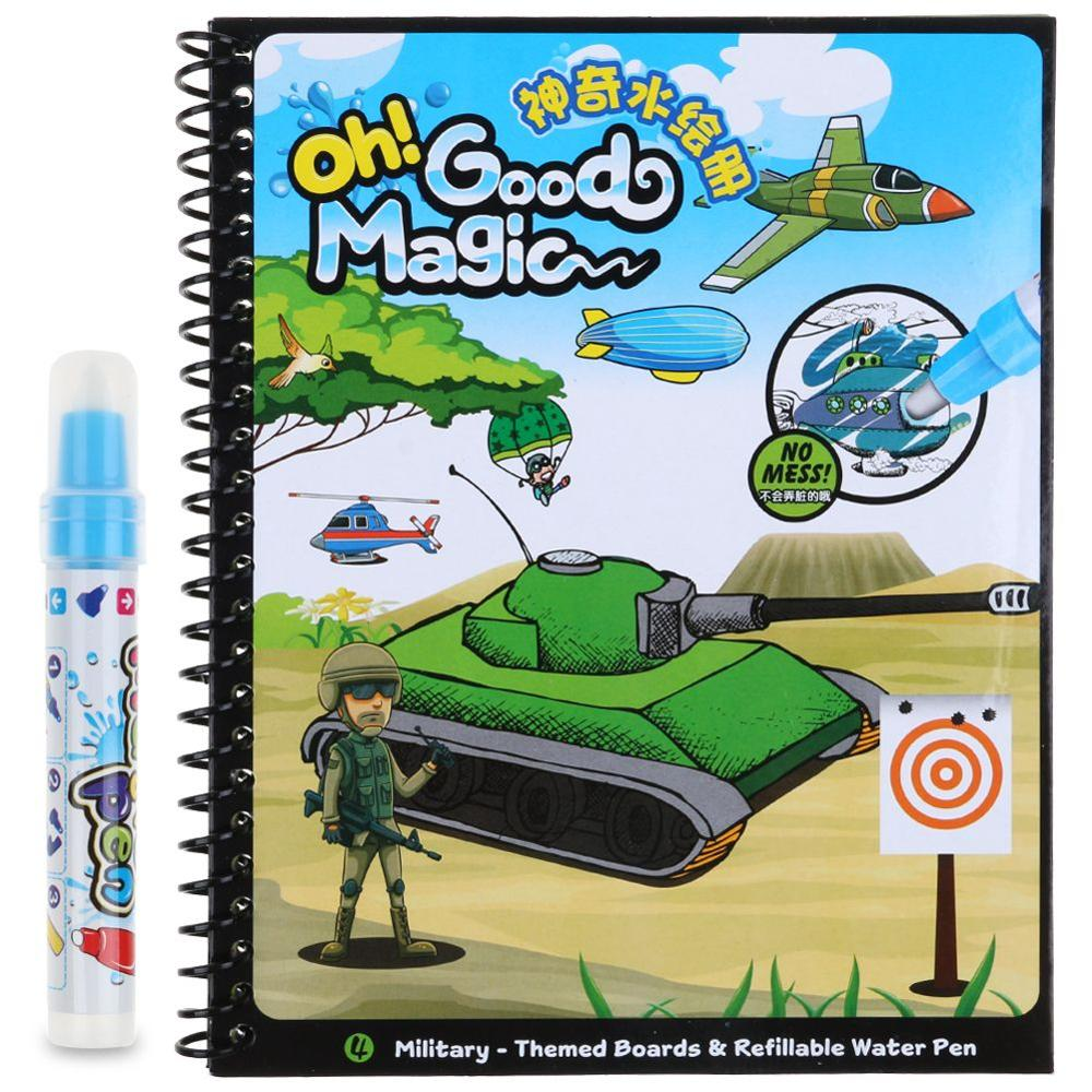 Kids Water Drawing Book 1 Magic Pen Learnning Tool Water Painting ...