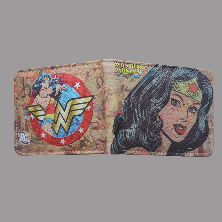 Wonder Woman Wonder Woman Wallet Super Hero Purses Small Wallet Bag Credit Card Holder Leisure Womens Mens Pu Leather Wallet