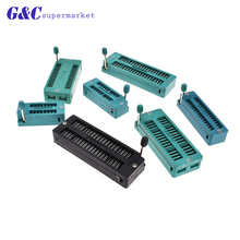 2PCS 16 20 28 32 40 Pins Test Universal ZIF IC Socket 16P 20P 28P 32P 40P Sockets AF