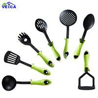 7PCS Nylon Heat resistant Food Grade Cooking Spoon Soup Turner kitchen Tools Cooking Utensil Set