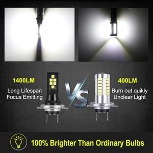 Image 4 - 2pcs 1400LM H7 H8 H11 HB3 9005 HB4 9006 LED Bulbs Car Lights 6000K White Replacement for Driving Lamp Automotive H7 LED 12V 24V