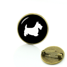 Scottish Terrier dog brooches Limited Romantic accessories pin Formal Novelty dog silhouette Unicorn Horse Dragonfly badge T504
