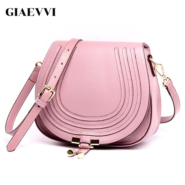 Giaevvi Women Luxury Messenger Saddle Bag Designer Handbag Genuine Leather Shoulder Brand Crossbody For Lady