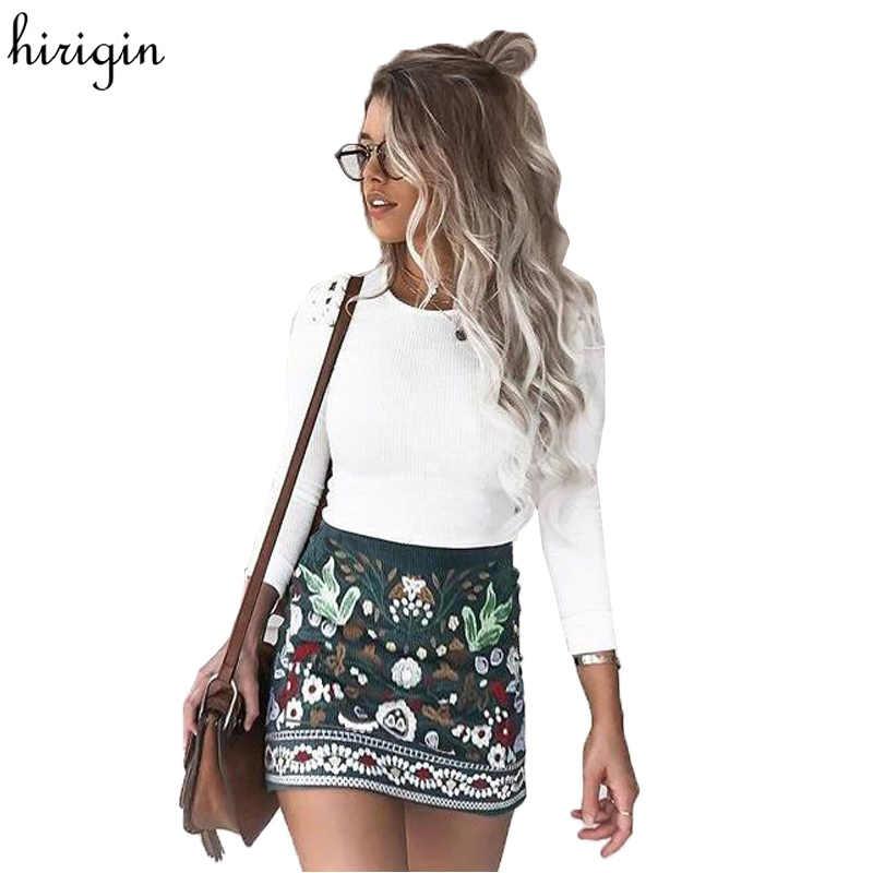 a8ffe5182 Fashion High waist skirts womens bottom Short boho style chic pencil skirt  female Vintage sexy mini