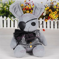 black butler Ciel Phantomhive bunny rabbit green doll lovely gray toy cosplay accessory birthday gift Free Shipping