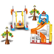 LegoINGLYS City Fun Park Happy Memory Building Blocks Assemblage Particles Enlightenment Toys For Children's Boys Girls paradise(China)