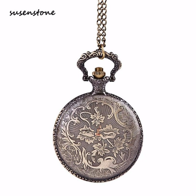 Susenstone Men Pocket Watch New Fashion Chain The Greatest Pocket Watch Necklace For Men Clock erkek kol saati 40