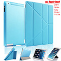 Ultra Slim Flip Smart Silk texture Back Cover Case for Apple Pad 2 3 4 5 6 air 1  Air2 Mini2 3 4 Pro with Sleep Stander funda