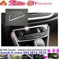 Для Suzuk1 S-cross SX4 2014 2015 2016 автомобилей ABS Консоль температуры кондиционер Объем переключатель отделка рамки лампы панели 1 шт.