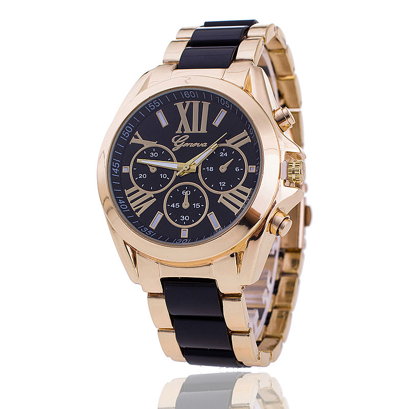 New Fashion Analog Geneva Watch Women Dress Quartz Gold Watches Full Steel Imitation Ceramics Wristwatches Relogio Feminino все цены