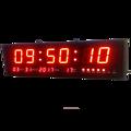 Reloj de pared Digital Led moderno con calendario y temperatura para sala de estar, oficina, sala de reuniones