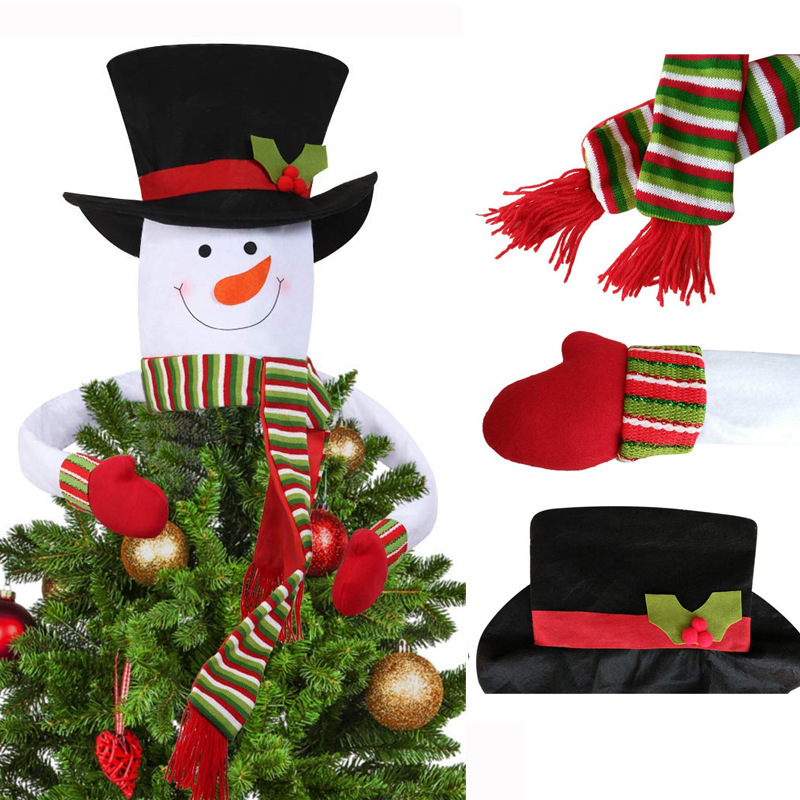 Snowman Christmas Tree Topper Decoration Holiday Tree ...