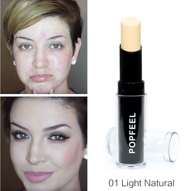 Makeup Base Eye Concealer Cream Stick Makeup Brighten Shadow Waterproof Cover Dark Circle Comestic Long-Lasting Natural 4 Color 2