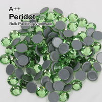 A++ High quality Hotfix Rhinestones SS6 SS30 Glue On/Hot fixPeridot Bulk Packing Used For Clothe accessories Decoration